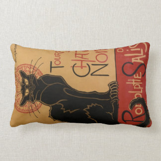 Le Chat Noir Double-Sided Throw Pillow