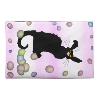 Le Chat Noir - Easter Bunny on Pink Background Travel Accessories Bag