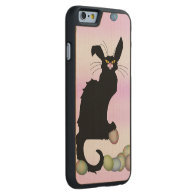 Le Chat Noir - Easter Bunny on Pink Background Carved® Maple iPhone 6 Case