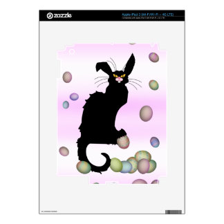 Le Chat Noir - Easter Bunny on Pink Background Skin For iPad 3