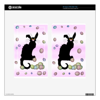 Le Chat Noir - Easter Bunny on Pink Background Skins For Kindle Fire