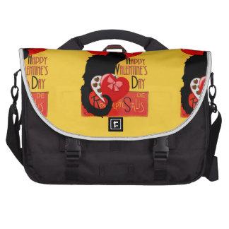 Le Chat Noir - el día de San Valentín feliz Bolsa Para Ordenador
