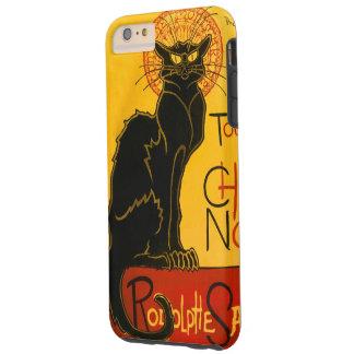 Le Chat Noir el vintage de Nouveau del arte del Funda Para iPhone 6 Plus Tough