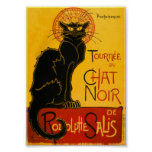 Le Chat Noir el vintage de Nouveau del arte del ga