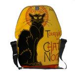 Le Chat Noir el vintage de Nouveau del arte del ga Bolsas De Mensajeria
