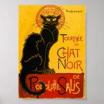 Le Chat Noir el vintage de Nouveau del arte del ga Posters