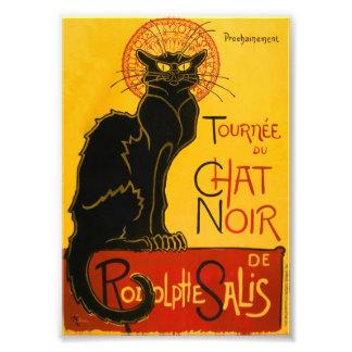 Le Chat Noir el vintage de Nouveau del arte del ga Foto