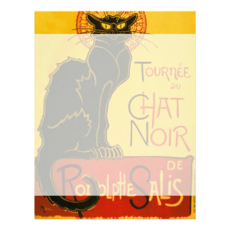 Le Chat Noir el vintage de Nouveau del arte del Plantilla De Membrete