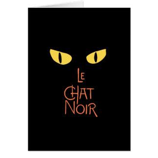 Le Chat Noir en la oscuridad Tarjeton