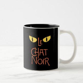 Le Chat Noir en la oscuridad Taza Dos Tonos