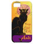 Le Chat Noir en la púrpura personalizada iPhone 5 Cobertura