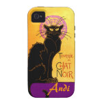 Le Chat Noir en la púrpura personalizada iPhone 4 Funda