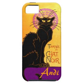 Le Chat Noir en la púrpura personalizada iPhone 5 Carcasas