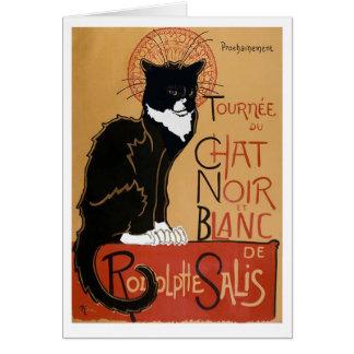 Le Chat Noir et Blanc Greeting Card