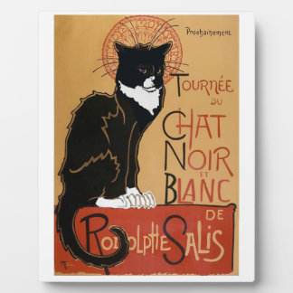 Le Chat Noir et Blanc French Plaque