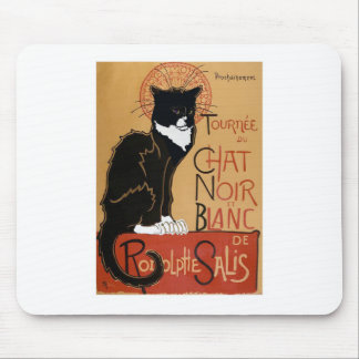 Le Chat Noir et Blanc Mouse Pad