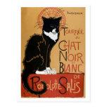 chat noir cabaret troupe black cat promo poster postcard zazzle. Black Bedroom Furniture Sets. Home Design Ideas