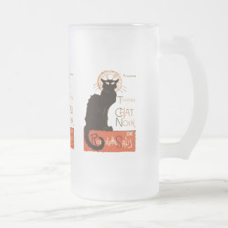Le Chat Noir Frosted Glass Beer Mug