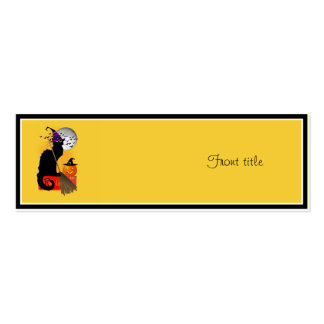 Le Chat Noir - Halloween Witch Double-Sided Mini Business Cards (Pack Of 20)