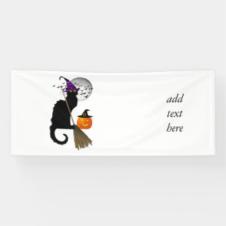 Le Chat Noir - Halloween Witch Cat Banner