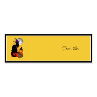 Le Chat Noir - Halloween Witch Cat Mini Business Card