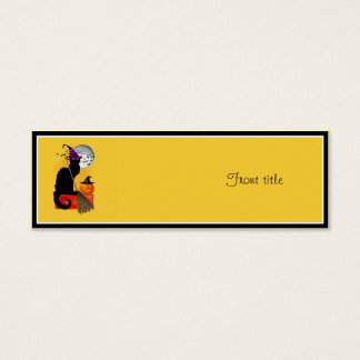 Le Chat Noir - Halloween Witch Cat Mini Business Card