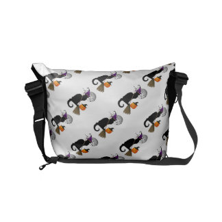 Le Chat Noir - Halloween Witch Cat Small Messenger Bag