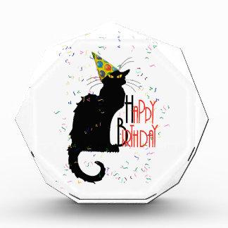 Le Chat Noir - HAPPY BIRTHDAY! Acrylic Award