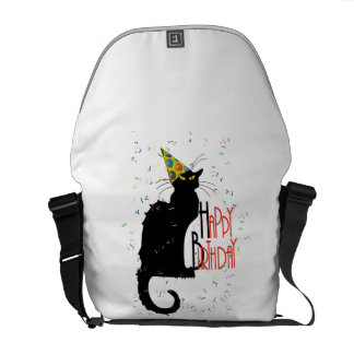 Le Chat Noir - HAPPY BIRTHDAY! Courier Bag
