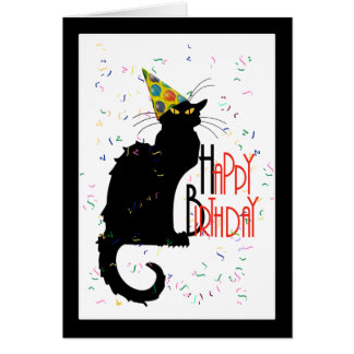 Le Chat Noir - HAPPY BIRTHDAY! Greeting Card
