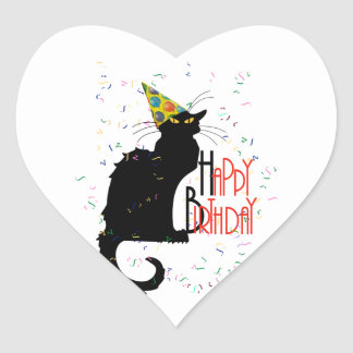 Le Chat Noir - HAPPY BIRTHDAY! Heart Sticker