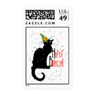 Le Chat Noir - HAPPY BIRTHDAY! Postage