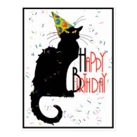 Le Chat Noir - HAPPY BIRTHDAY! Postcard