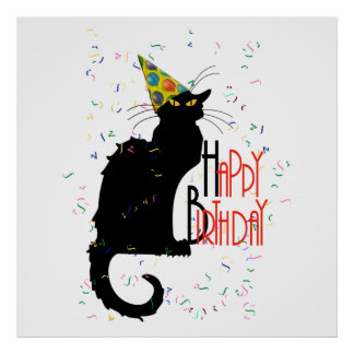 Le Chat Noir - HAPPY BIRTHDAY! Poster