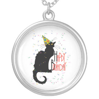 Le Chat Noir - HAPPY BIRTHDAY! Round Pendant Necklace