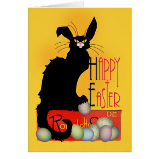 Le Chat Noir - Happy Easter Greeting Card
