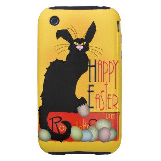 Le Chat Noir - Happy Easter iPhone 3 Tough Covers
