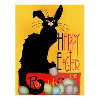 Le Chat Noir - Happy Easter Postcard