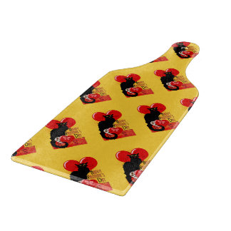Le Chat Noir - Happy Valentine's Day Cutting Board