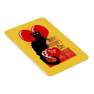 Le Chat Noir - Happy Valentine's Day Rectangular Photo Magnet