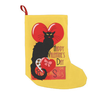 Le Chat Noir - Happy Valentine's Day Small Christmas Stocking