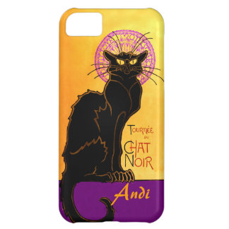 Le Chat Noir in Purple Personalized iPhone 5C Cases