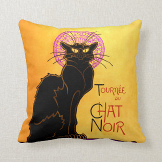 Le Chat Noir in Purple Throw Pillow