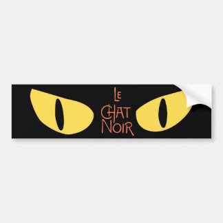 Le Chat Noir in the Dark Bumper Sticker