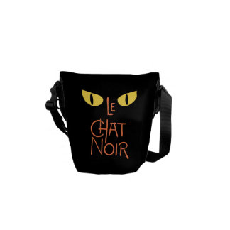 Le Chat Noir in the Dark Courier Bag