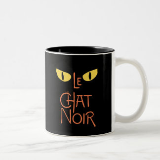 Le Chat Noir in the Dark Two-Tone Coffee Mug