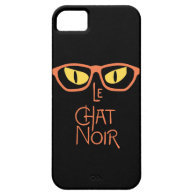 Le Chat Noir in the Dark with Eyeglasses iPhone 5 Cover