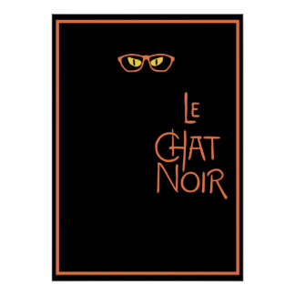 Le Chat Noir in the Dark with Glasses Poster