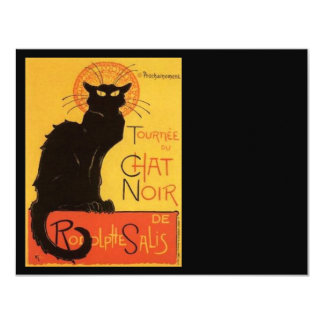 """Le Chat Noir Invitación 4.25"""" X 5.5"""""""