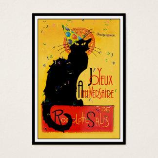 Le Chat Noir - Joyeux Anniversaire Business Card